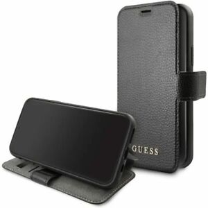 Details about Genuine GUESS Iridescent Collection Book Case for iPhone 11 Pro in Black