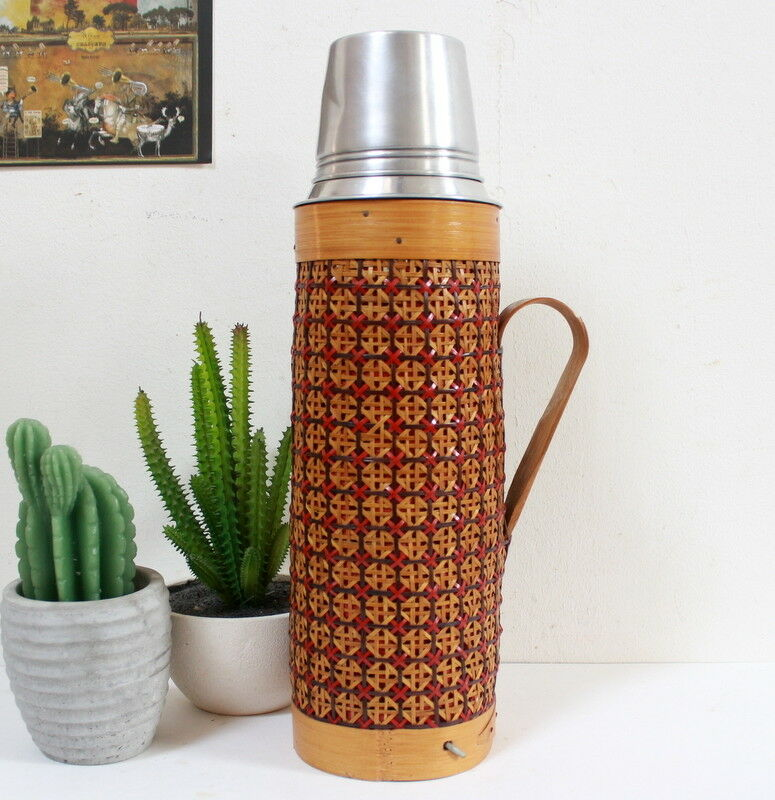 Grande bouteille thermos ancienne  en bambou  up to 70% off