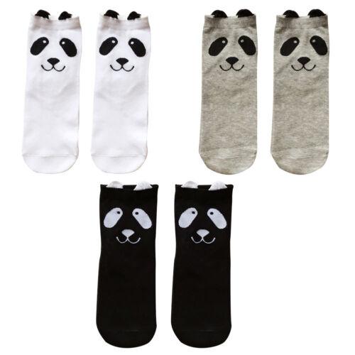 3D Panda Socken Damen Mädchen Cute Knöchelhoch Cartoon Warme Mode