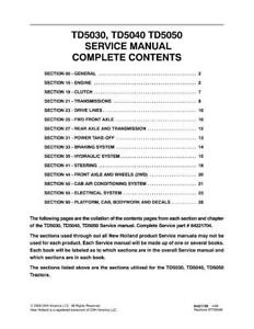 image is loading new-holland-td5030-td5040-td5050-tractors-service-manual