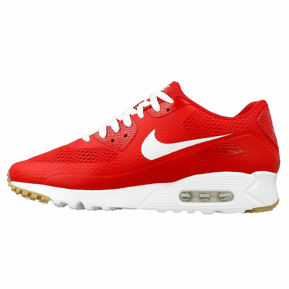 NIKE AIR MAX 90 ULTRA ESSENTIAL UNIVERSITY RED-WHITE 819474-601 Mens Sz 9.5