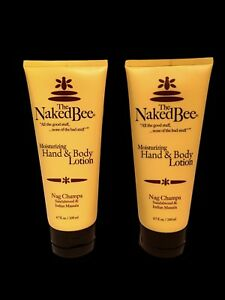 The-Naked-Bee-Nag-Champa-Hand-amp-Body-Lotion-2-25-oz-2-pack-Natural-Sandalwood