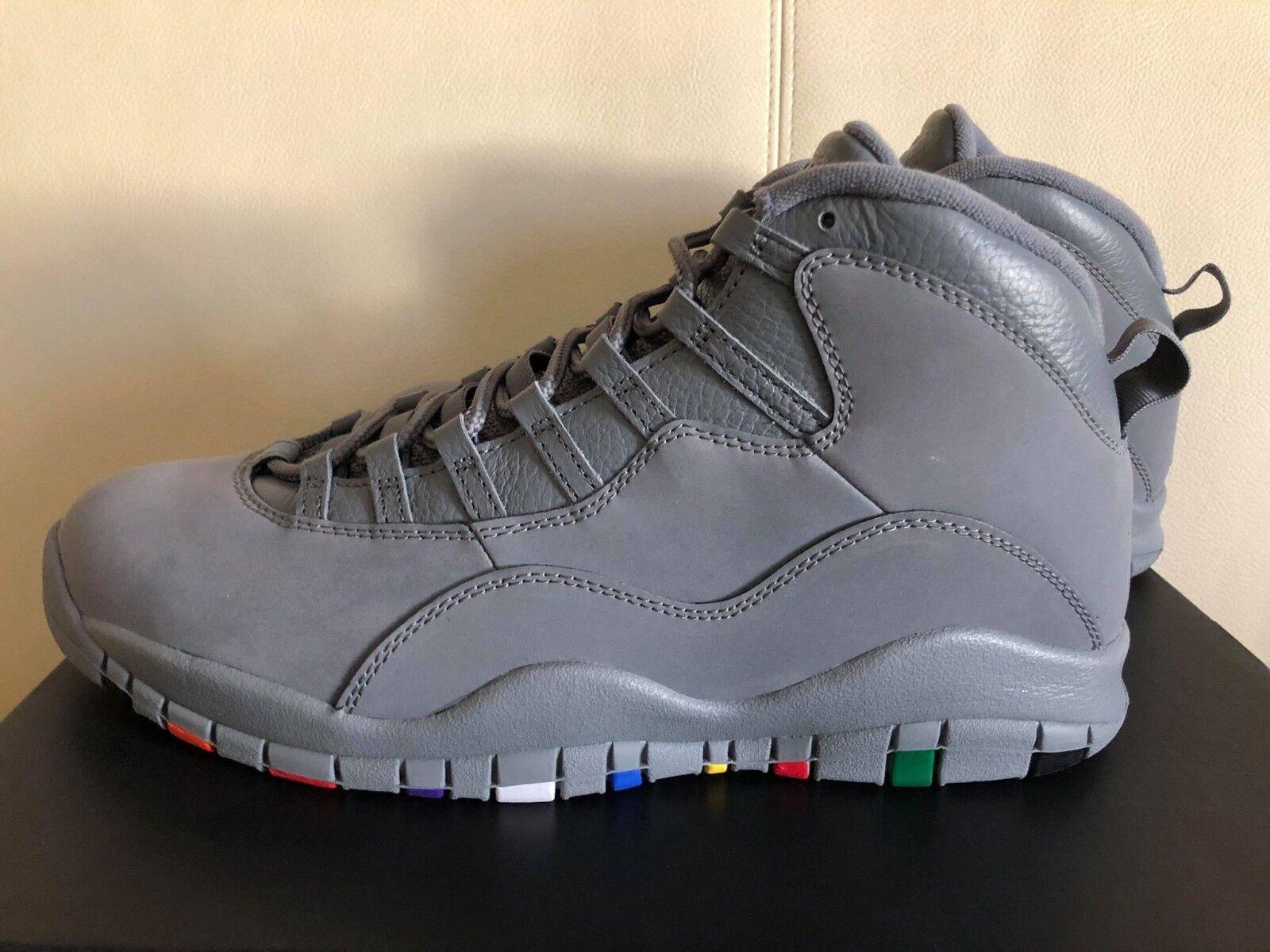 Jordan 10 retro fresco Air gris 310805-022 para hombre X baloncesto Calzado Tenis Nuevo En Caja
