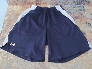 A fondo derrota Si  Men's Small Under Armour Navy Blue Athletic Basketball Shorts w/ Pockets |  eBay