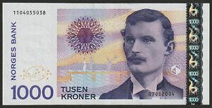 Norway 1000 Kroner 2019 UNC NEW