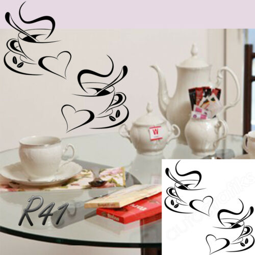 Coffee Cups Sign Decal Vinyl Sticker Window Shops Pubs Hotels Cafes Offices Bars