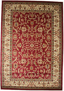 8x10 Area Rug New Border Floral Claret Red Beige