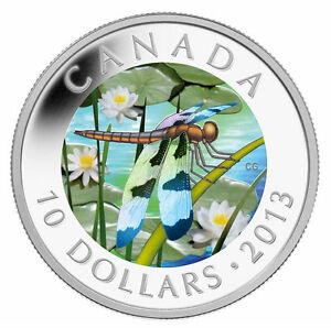 2013-Canada-10-Fine-silver-coin-Twelve-spotted-Skimmer-Sale