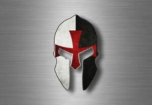 CASCO-Adesivi-Bandiera-Guerriero-Spartano-Decalcomania-Tuning-molone-Labe-Cavalieri-Templari