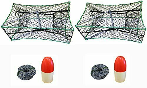 KUFA Foldable Crab Trap 1 4   X 100' Non-Lead Sinking Line & Float(S33+FWS100)x2  best offer