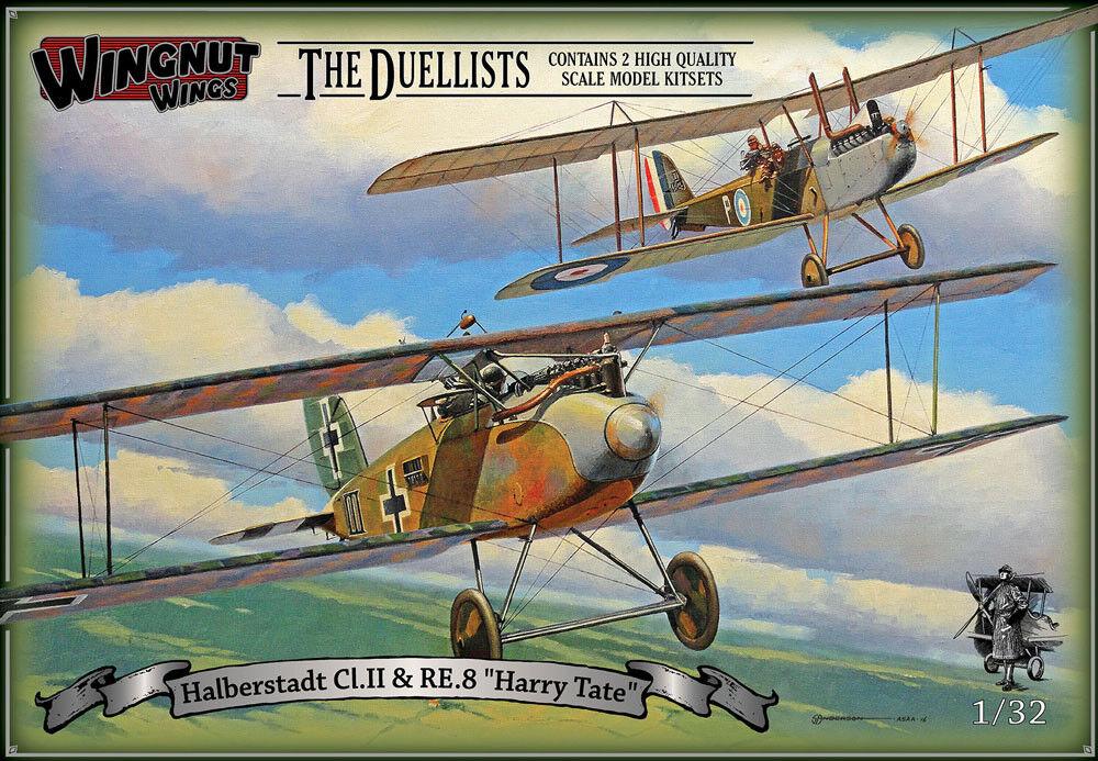 Wingnut Wings 1 32 Halberstadt Cl.ii (Late) & RE.20.3cmHarry Tate  The Duellists