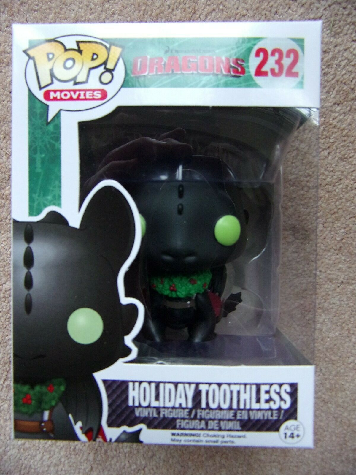 Funko Pop  HOLIDAY TOOTHLESS How to Train your Dragons Movies
