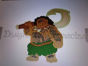 Iron on embroidered applique hawaii male character from disney