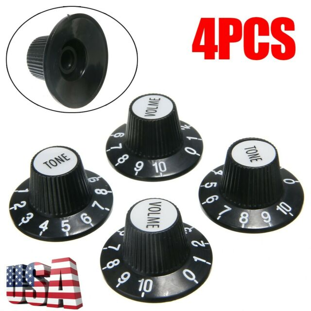 KAISH 4 pcs Guitar Reflector Knobs Top Hat Knobs Fits For Les Paul Epiphone SG