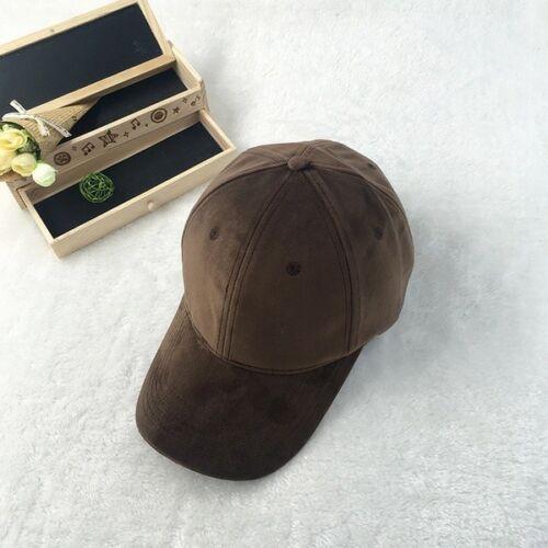 Ms Winter Hat Velvet Baseball Cap Solid Plate All-match Hip-hop Peaked Cap NE8
