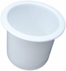 Single-White-Plastic-3-inch-cup-drink-can-holder-boat-RV-patio
