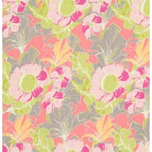 Pretty In Pink Wild Flower Heads 100/% Cotton Fabric