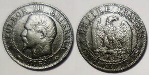 5-Centimes-Napoleon-III-1854-A-Paris-TB