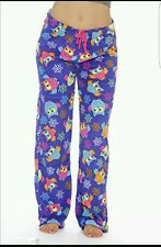 Just Love Ladies Large Owl Fleece Bottoms Pyjamas Size XL