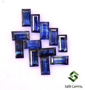 Natural-Blue-Sapphire-Baguette-Cut-4-50x2-25mm-Lot-12-Pcs-Faceted-Loose-Gemstone