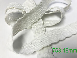 NEW 18MM WHITE INTRICATE WAIST ELASTIC ITEM #753 X 50 METRE REELS FREE DELIVERY