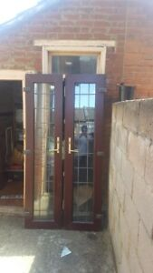Details About Pvc French Doors With Original Frame And Locks Keys