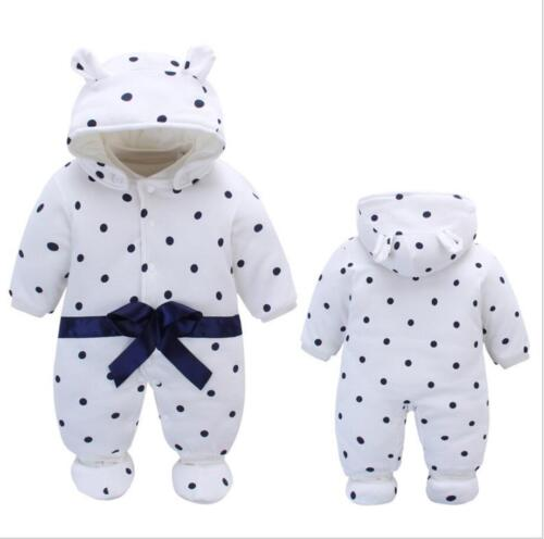 newborn baby winter warm padded clothes baby girls boys winter thick outfits