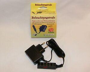 Steger-Beleuchtungstrafo-3-2V-bis-3-5V-Gleichstrom-fuer-LED-039-s-und-Gluehbirnen