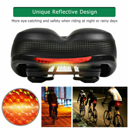 Extra Wide Big Bum Bike Seat Soft Comfort Padded MTB Road Bicycle Gel Saddle