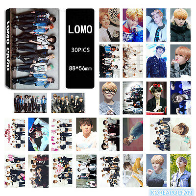 30pics set Bangtan Boys BTS 2016 RUN LOMOCARDS Kpop CARD jungkook jimin jin suga