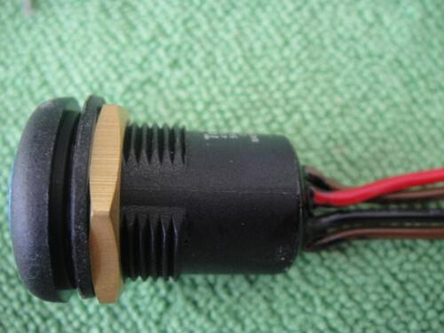 1pc Imperméable Locking Outdoor OFF-ON Push Bleu DEL 3 V Commutateur 12v-110v-250v 40BL