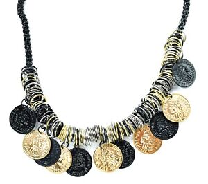 Retro-Tribal-Gypsy-Coins-Collar-Ethnic-Turkish-Bohemian-Statement-Coin-Necklace