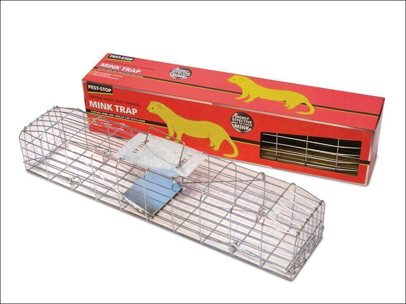 Sistemas De Plagas-Mink Jaula Trampa Stop 30in