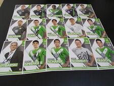 18041666 VFL Wolfsburg original signierter Autogrammkarten Satz