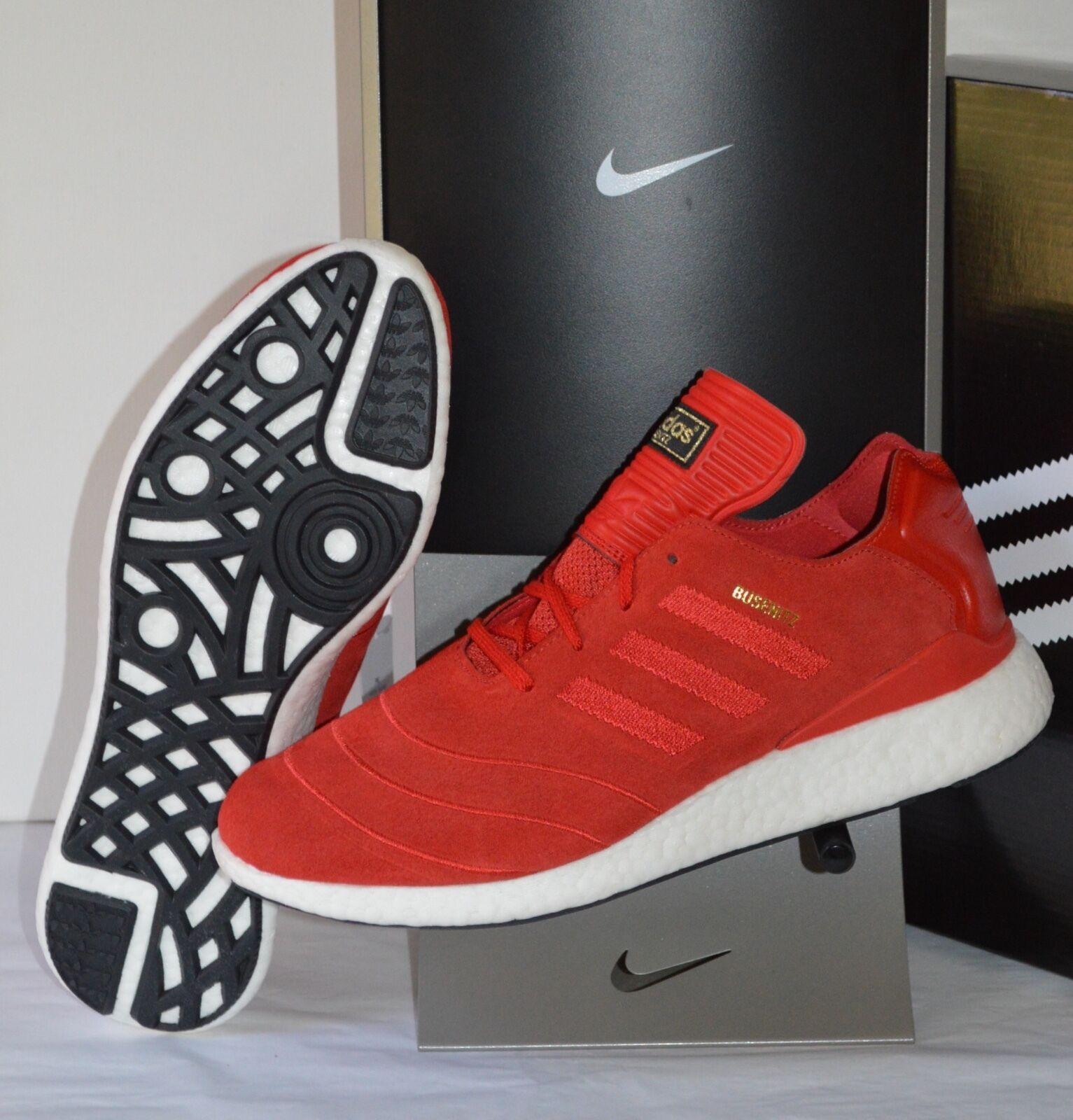 New 140 Adidas Busenitz Pure Boost Ultra Scarlet Red/White Skateboarding sz 11