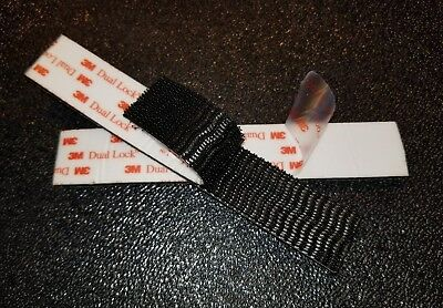 25.4mmx1m Dual Lock SJ3550 Type 250 VHB Black Reclosable Fastener In//Outdoor New