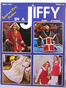 Knit-Crochet-Pattern-Book-Quick-and-Easy-Fashions-In-A-Jiffy-Afghans-Sweaters
