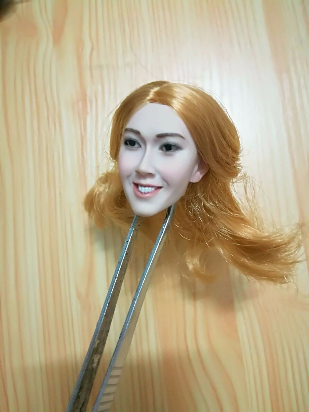 1 6 Scale Beauty Asian Girl meme Tian Pujun Head Sculpt F 12'' PH Pale Body