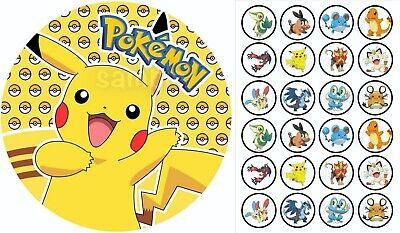 Pokemon Meisterdetektiv Pikachu eßbar Tortenaufleger Party Deko Tortenbild neu