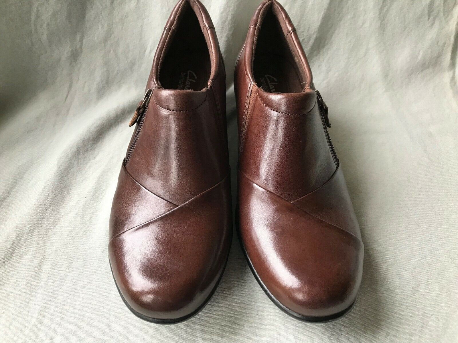 CLARKS Bendables  WISH HOPE  style 36734 Brown Leather Shooties Womens Size 11M