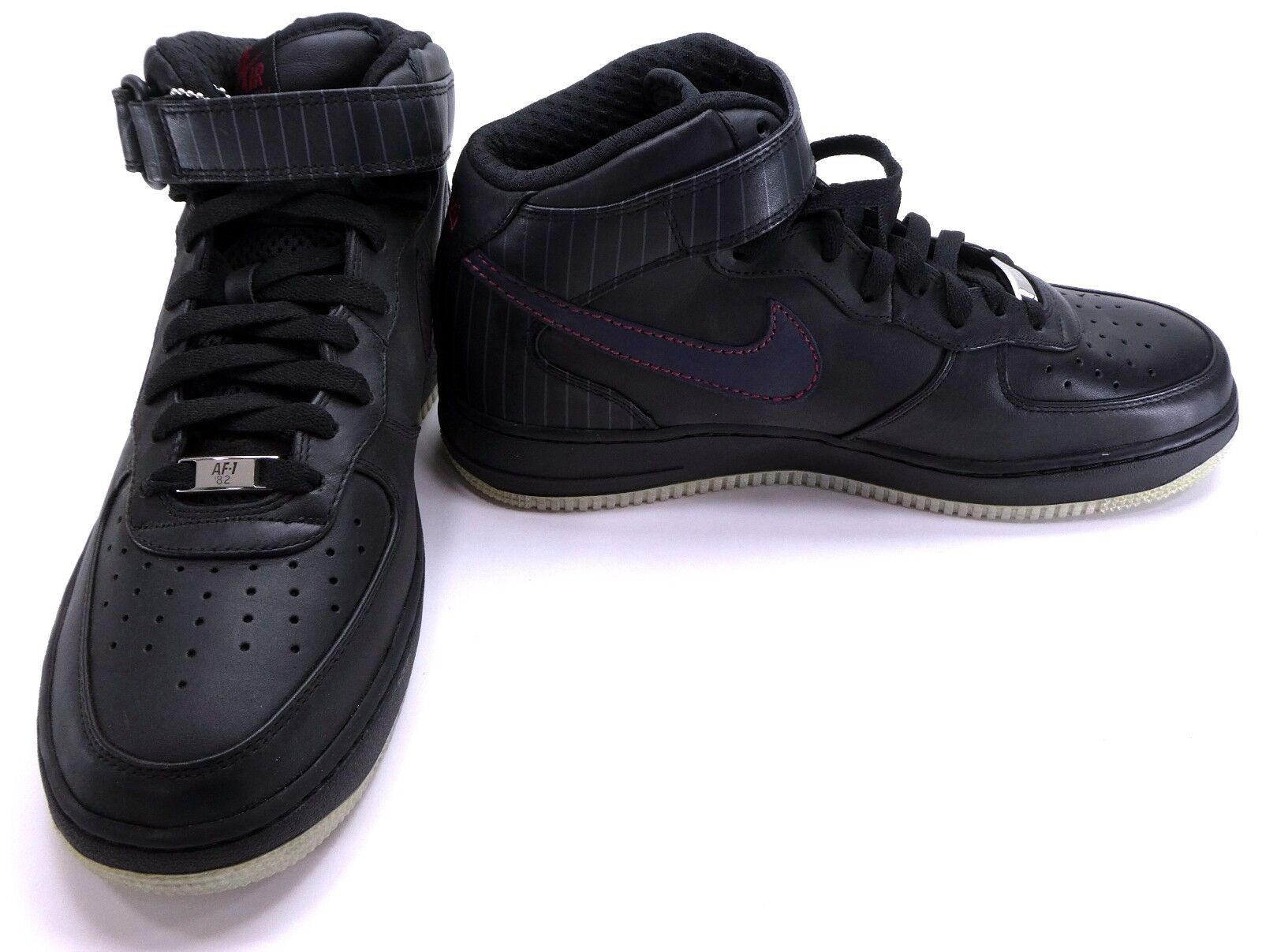 Nike shoes Air Force 1 Mid Premium Black Obsidian Red Sneakers Size 9