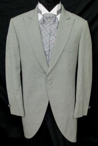 Mens Light Grey Bill Blass Morning Coat Wedding Daytime Formal Tailcoat Dickens