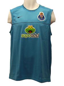 Nike-Porto-Drifit-Entrenamiento-De-Futbol-Chaleco-Camiseta-Sin-Mangas-Turquesa