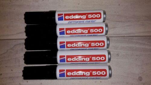 2-7 mm nachfüllbar edding 500 Permanentmarker 5er-Sparpack schwarz