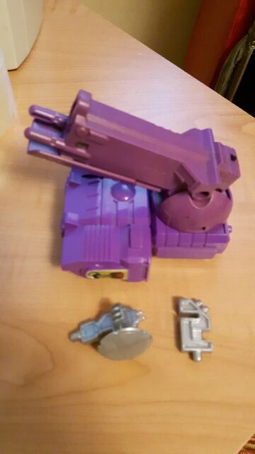Transformers G1 Trypticon parts Brunt tank, Blaster Stand, Single Scanner dish