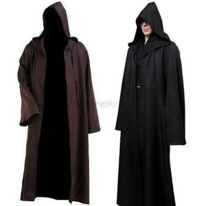 Halloween-Adult-Men-Ladies-Hooded-Robe-Long-Cloak-Cape-Hood-Fancy-Dress-Costume