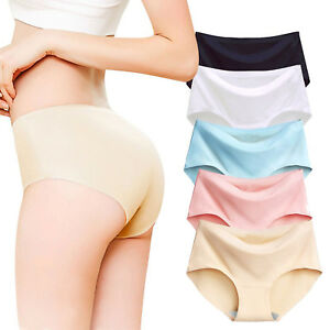 b23941391df6 Image is loading Women-Panties-Ice-Silk-Seamless-Briefs-High-Quality-