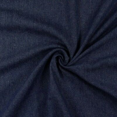 Tessuto denim al metro colore blu scuro mt 1,00x1,50