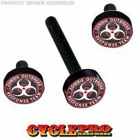 Black Fairing Windshield Hardware Kit 14-up Harley Touring Zombie Outbreak R