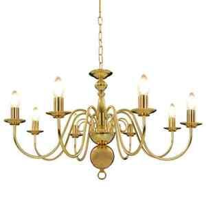 vidaXL-Chandelier-Golden-8xE14-Bulbs-Ceiling-Pendant-Lamp-Living-Room-Light